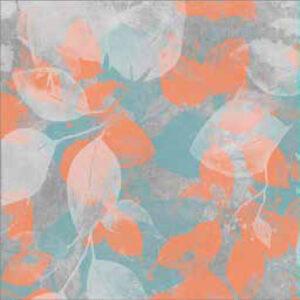 fashion wall 100 100 foglie a arancio