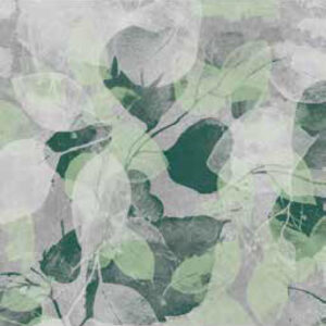 fashion wall 100 100 foglie a verde