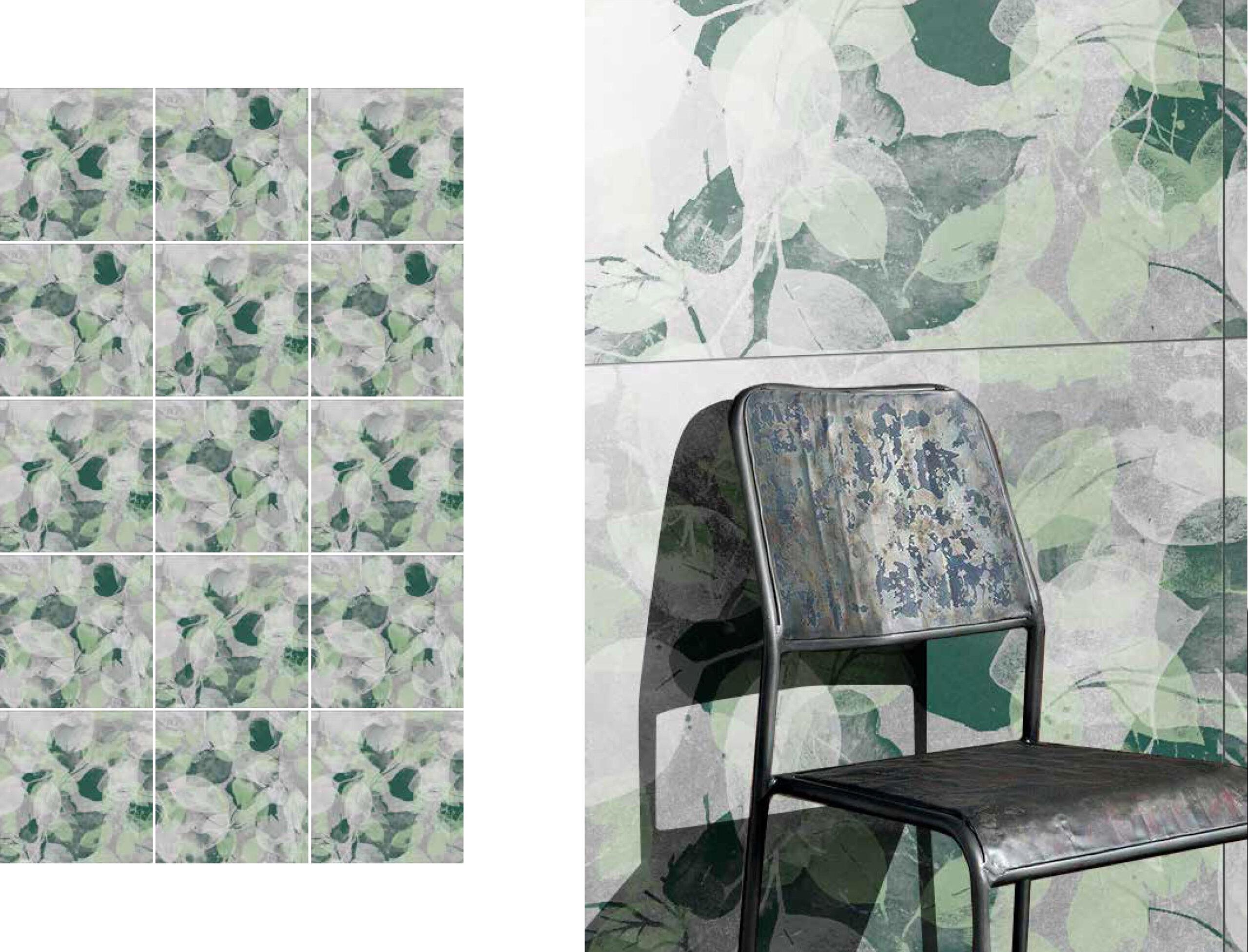 fashion wall 100 100 foglie ambientes