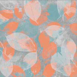 fashion wall 100 100 foglie b arancio