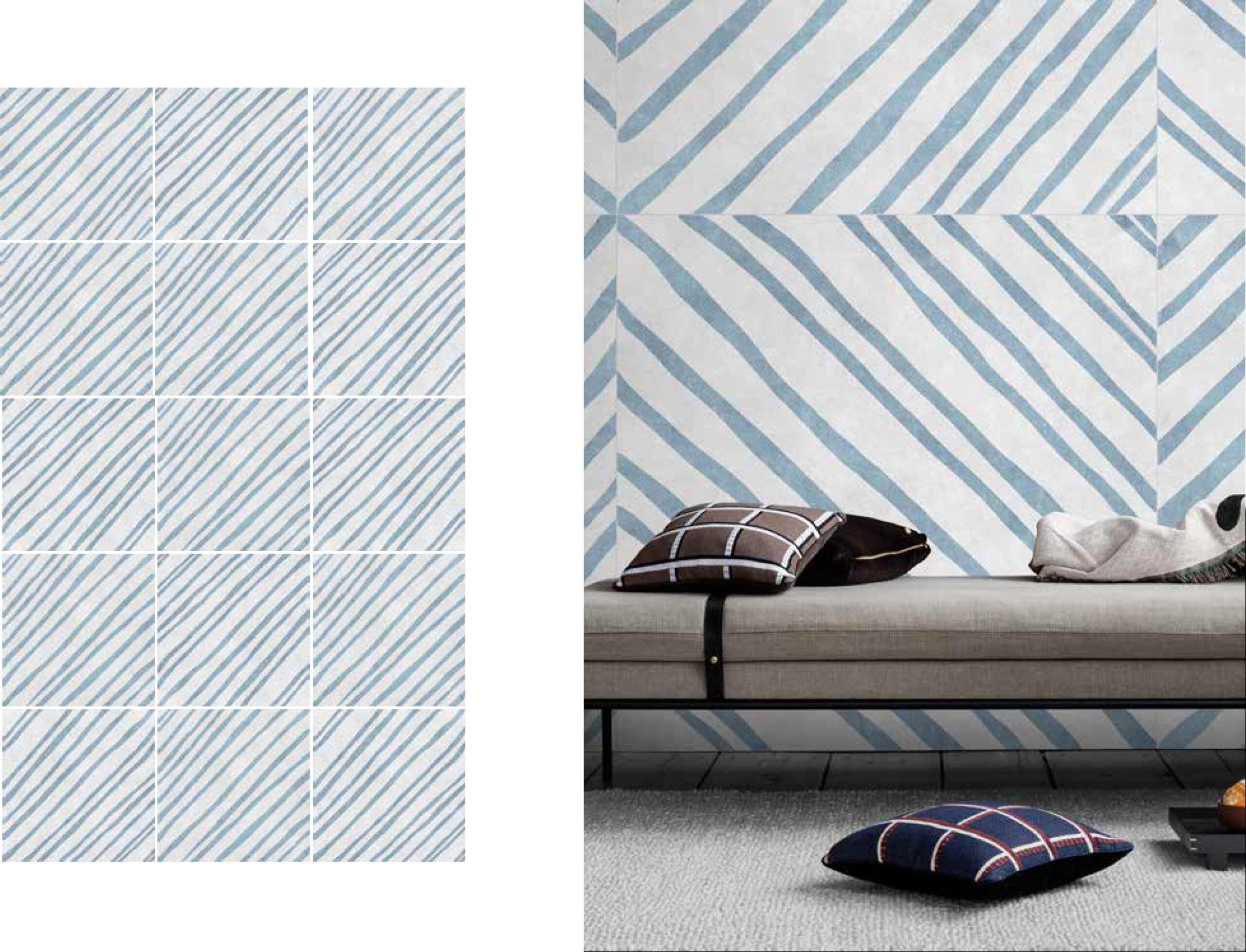 fashion wall 100 100 righe ambientes