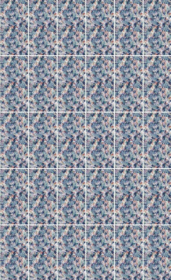 fashion wall 50 100cm botanic graphic movement