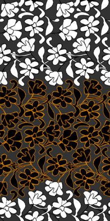fashion wall 50 100cm damasco italiano a arancio