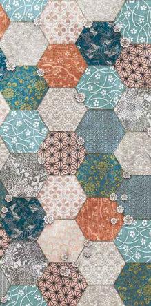 fashion wall 50 100cm hexago a giorno