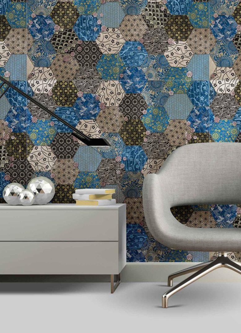 fashion wall 50 100cm hexago ambientes