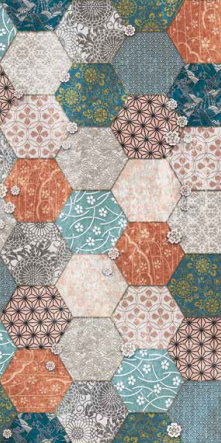 fashion wall 50 100cm hexago b giorno